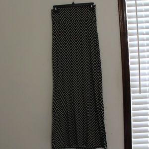 Geometric Maxi skirt